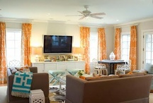 living room and play area