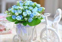Цветы на велосипеде