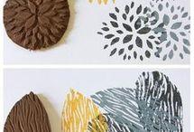 Stoff bedrucken / Ideen für verschiedene Drucktechniken auf Stoff