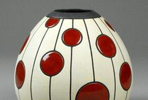 Graphic and colorful pottery