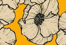 estampas florais tecidos