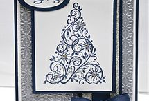 ChristmasCard SnowSwirled / Christmas cards using Stampin' Up!'s Snow Swirled stamp set.