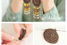 crochet necklaces and earings