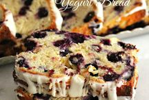 Almond  Yogurt  Blueberry  breakfast  cake