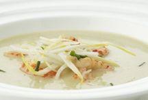 feestelijke soep en voorgerecht