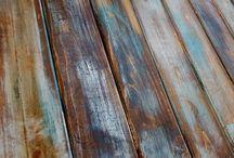 Aging wood