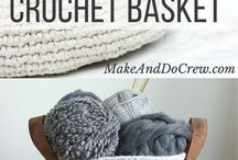 Crotchet baskets