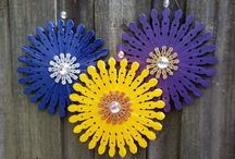 clothespin flowers