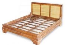 Bed / Teak Bamboo Furniture Bed