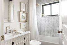 BATHROOMS / Modern, minimalist, clean bathroom ideas and decor