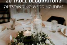 decorații masa nunta