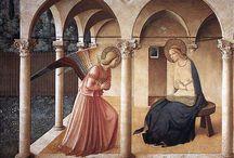 Arte-Annunciazione / Arte: Raccolta di immagini di quadri, affreschi, stampe, sculture riguardanti il tema dell'Annunciazione.