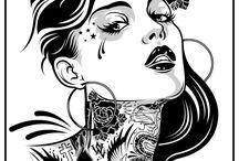 conture tattoo desing