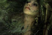 Mermaids and their jewellery / Mermaids... it's blue, glittery, beautifull and very romantic!