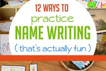 Learning to write your name! / For those learning their names!