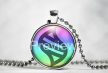 Mega Evolution Stones necklaces / Pendants with mega evolution stones.