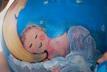 Belly Painting / Trabajos de Belly Paiting realizados. Barrigas embarazadas pintadas