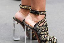 sandale cu toc din sticla