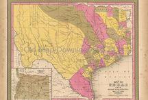 Texas Antique Maps