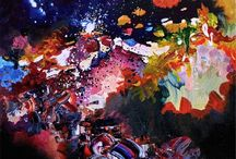 """Musical Synesthesia Paintings / These are paintings by people who experience synesthesia, a """"crossing of the senses,"""" who have harnessed their unique ability to paint what music looks like!"""