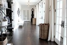 Every Room Should Have a Touch of Black / Rooms with a touch of black filled with vintage items, linen, bling, baskets, metal and wood