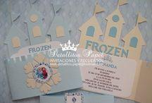 frozen tarjetas invitacion