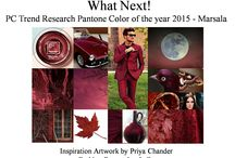 Pantone Color of the year 2015 - Marsala / Fashion, Art, Design, Textile, Home Furnishing, Lifestyle.
