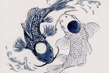 Koi Fish Tattoos / Koi fish tattoo designs are regarded as one of the most popular and beautiful among tattoo designs, which are attributed to their large size, adorned with vibrant colors and exquisite shading more at http://fabulousdesign.net/koi-fish-tattoo-designs/