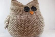 coussins tricotes