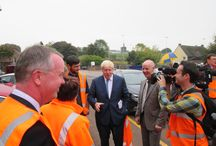 Boris Johnson visiting our Chesterton brickworks / Touring the worlds most energy efficient brickworks of its type