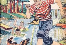 Swimming -- Comics / by GCD Grand Comics Database