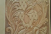 floral carving leather