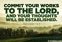 **FAITH** / #1 Hear the Word of God: Faith comes by hearing and hearing by the Word of God. Romans 10:17 (Feed your Spirit more then your body) #2 Commit your works until God and your THOUGHTS will be established. Proverbs 16:3 Faith without works is dead James 2:26