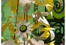 Paper Blossoms / Paper flowers, blossoms, bulbs and wreaths