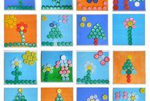dibujos flores con tapas