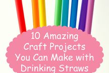Straw crafting/Popsicles/Clothespins