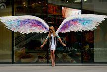 skrzydła Aniołą na ścianę