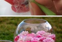 Flowers in water bowl