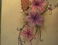 butterfly and flower tattoo ideas