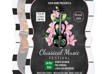 Classic Music Festival Chalkboard Suite