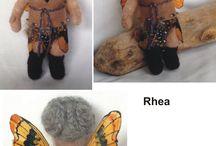 Pooka Poppets / Needle felted dolls