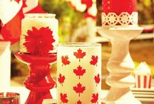 Oh Canada / Decorations, recipes and maple leaves galore for our friends up North!