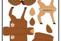 Állatok papírból
