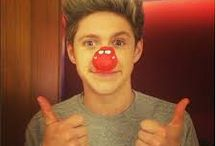Niall Horan with red nose