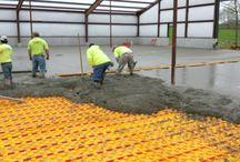 "7500 sq ft barn - Kentucky / Hydronic floor heat - Creatherm S45 panels w/ 1/2"" Legend Flex Pex pipe. 7500 sqft Kentucky"
