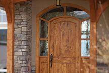 Timber frame entrance
