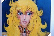 Lady Oscar (Dipinti olio su tela) #LadyOscar