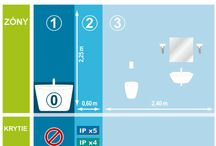 Osvetlenie kúpeľne / Svietidlá vhodné pre osvetlenie kúpeľní, na strop, na stenu, nad zrkadlo, vedľa zrkadla alebo do sprchového kúta.