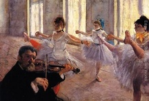 Degas and ballet / I love the expressive lines and shapes of Degas' paintings of ballet dancers.