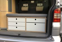T5 California Drawers / Schubladen / I was enoyed of the unused space in our California. So I made drawers for the kitchen and the back.